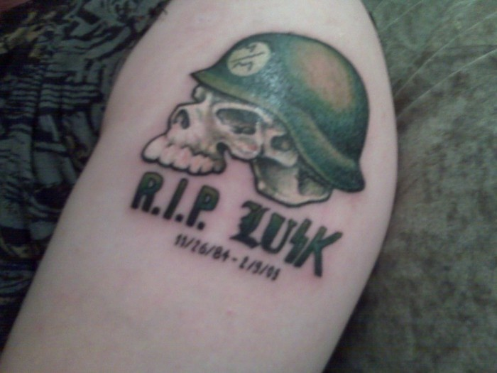 R.I.P - Helmet Tattoo