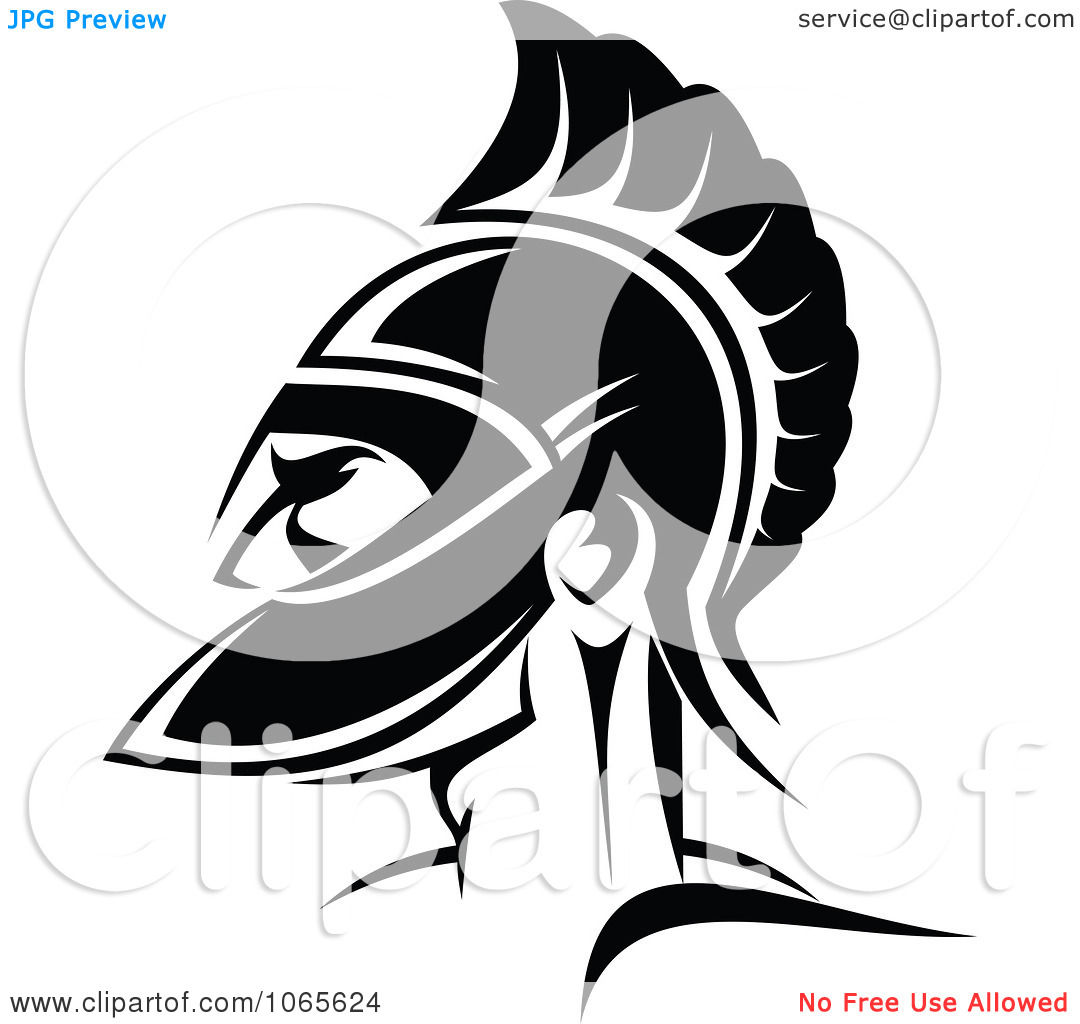 Roman Soldier And Helmet Tattoo Design