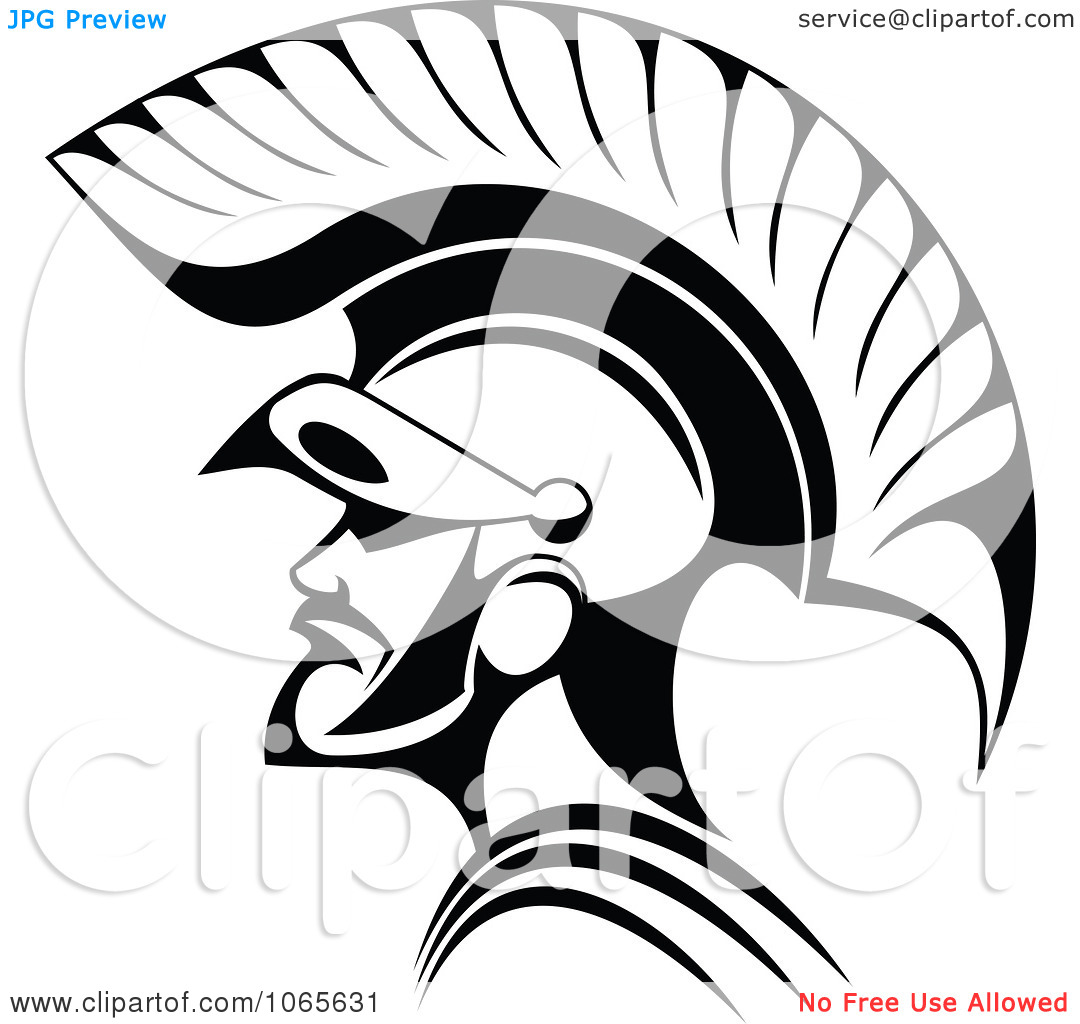 Roman Soldier And Helmet Tattoo Sample