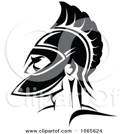 Roman Soldier And Helmet Tattoo Version