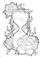 Roses And Hour Glass Tattoos Sample