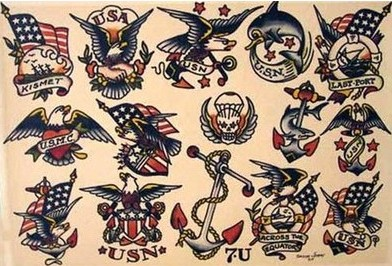 Sailor Jerry Traditional American Tattoos Sheet