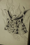Samurai Helmet Tattoo Design Page