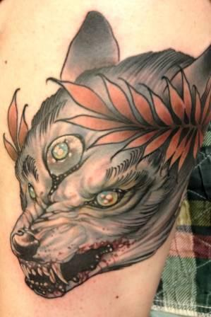 Scary Bloody Animal Tattoo