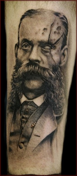 Scary Jason Butcher Portrait Tattoo