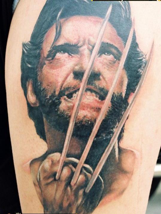 Scary Portrait Tattoo