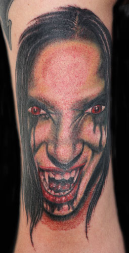 Scary Vampire Portrait Tattoo