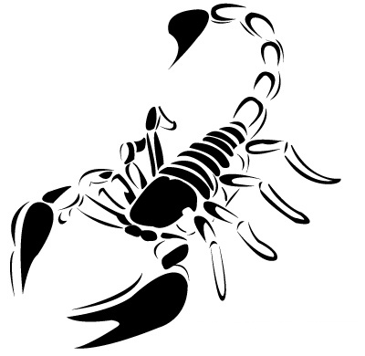 Scorpion Black And White Tattoo Design
