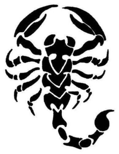 Scorpion Black Ink Tattoo Design