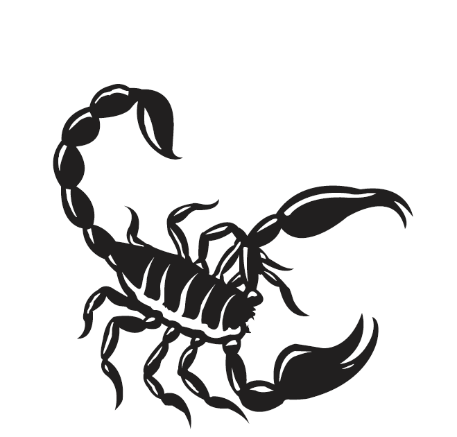 Scorpion Black Tattoo Sample