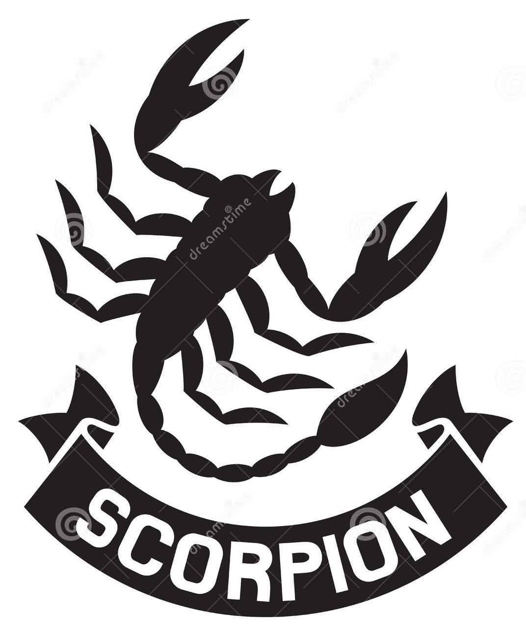 Scorpion Label Symbol Tattoo Design