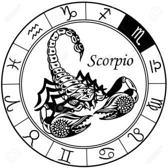 Scorpion Or Scorpio Astrological Zodiac Sign Tattoo Design