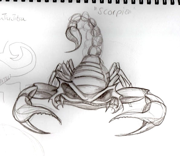 Scorpion Rough Sketch