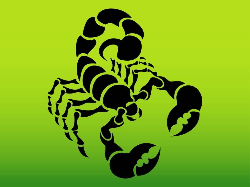 Scorpion Silhouette Tattoo Design