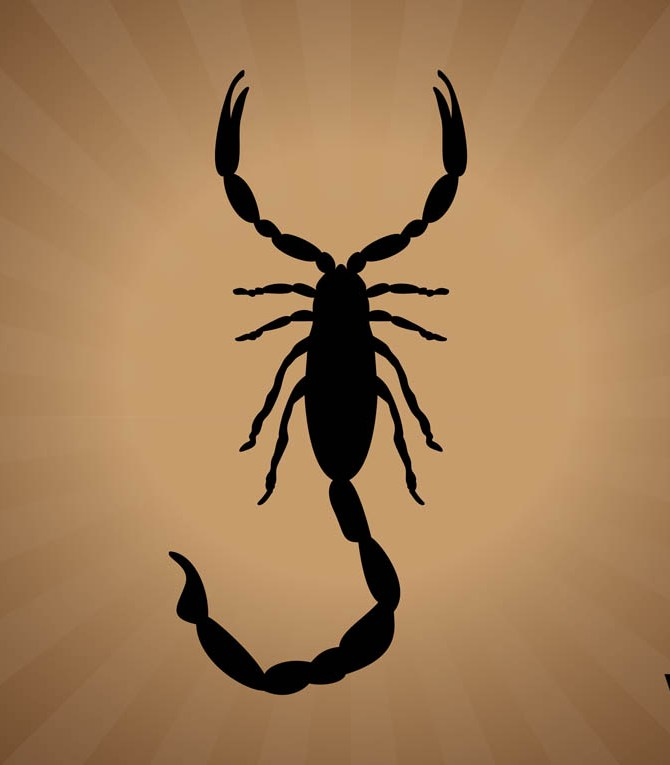 Scorpion Silhouette Tattoo Graphic