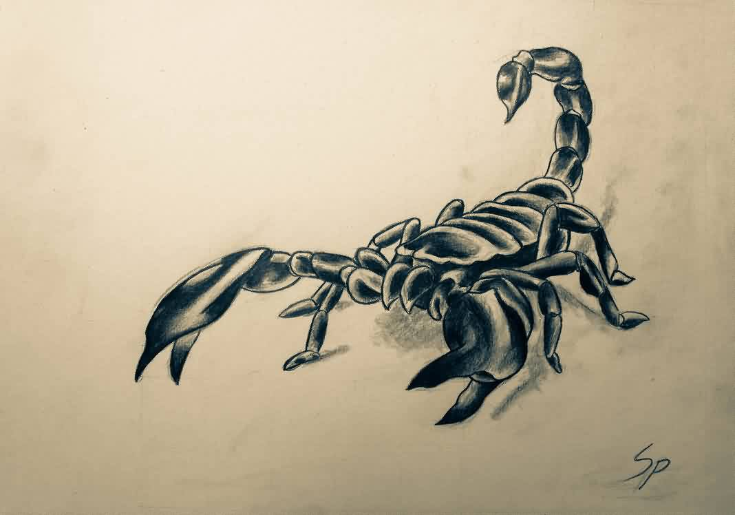 3d scorpion tattoo designs - Scorpion Tattoo Design For A Friend