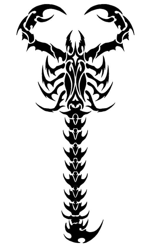 Scorpion Tattoo Design For Spine