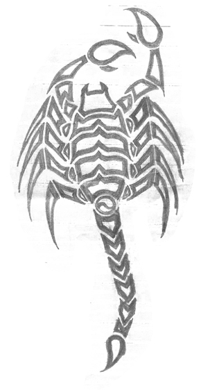 Scorpion Tattoo Sketch (3)