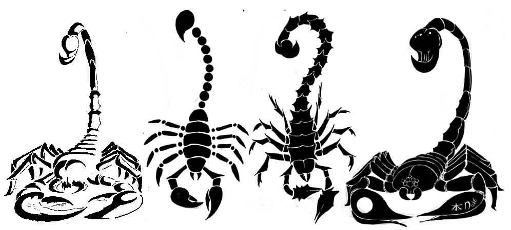 Scorpion Tattoos Set (2)