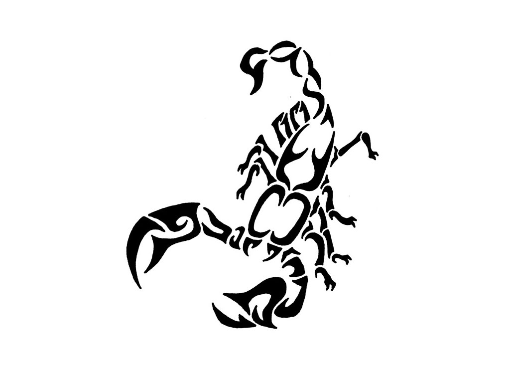 Scorpion Tribal Tattoo Design