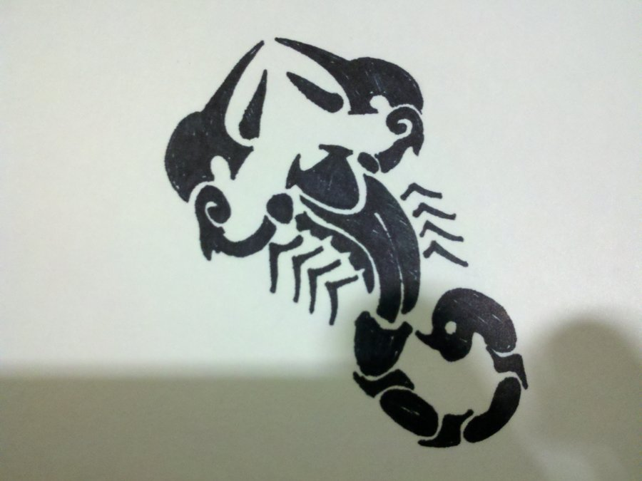 Scorpion Tribal Tattoo Print