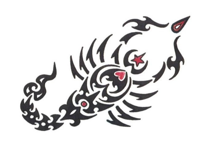 Scorpion Tribal Tattoo Sample (2)