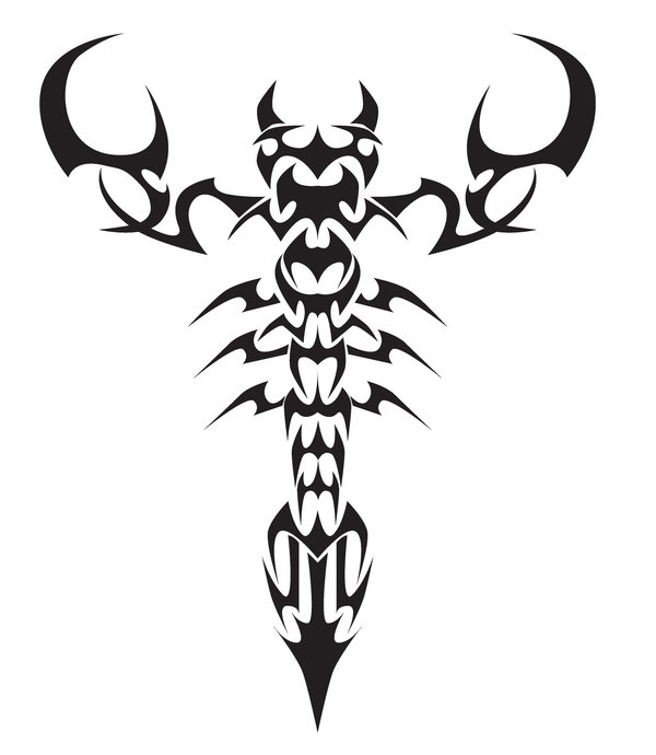 Scorpion Tribal Tattoo Sample (3)