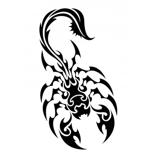 Scorpion Tribal Tattoo Sample (5)