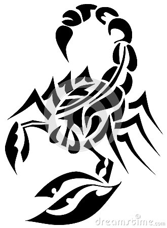 Scorpion Tribal Tattoo Sample