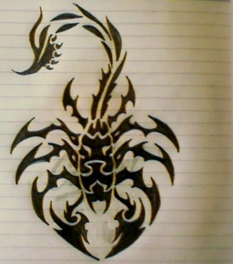 Scorpion Tribal Tattoo Sketch
