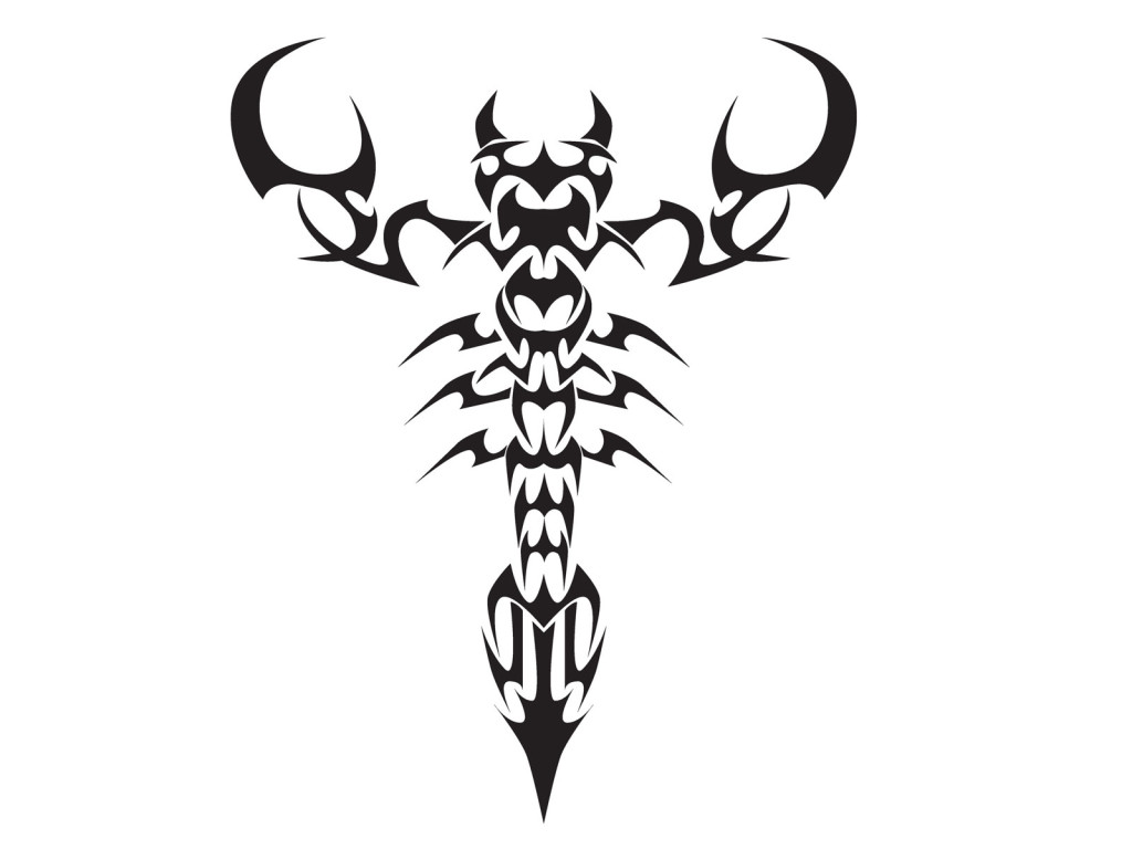 Scorpion Tribal Tattoo Version (11)
