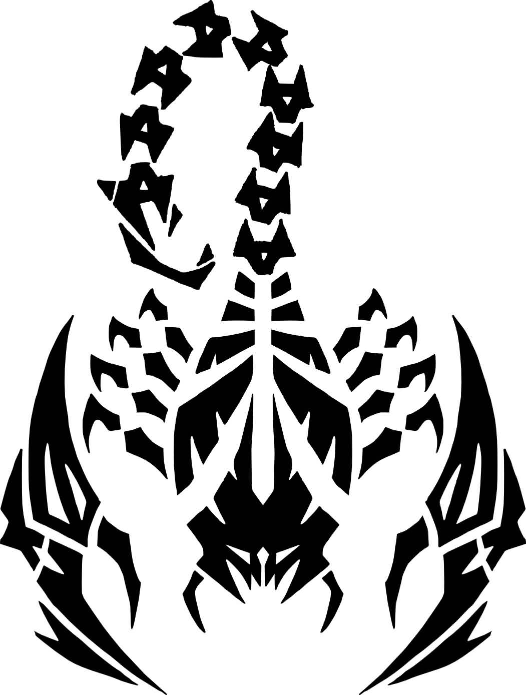 Scorpion Tribal Tattoo Version (13)