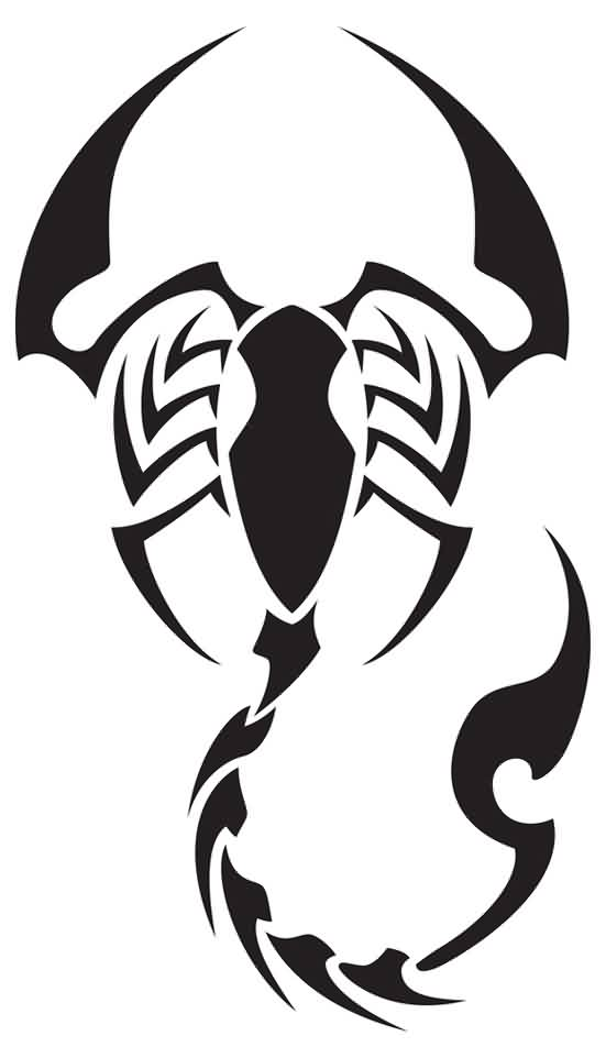 Scorpion Tribal Tattoo Version (14)