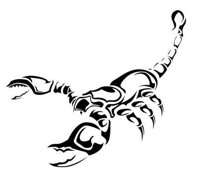Scorpion Tribal Tattoo Version (2)