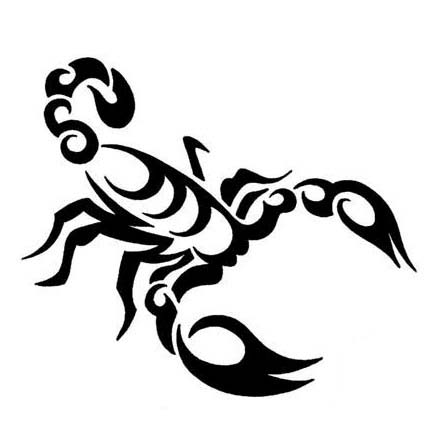 Scorpion Tribal Tattoo Version (3)
