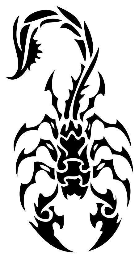 Scorpion Tribal Tattoo Version (8)