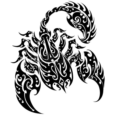 Scorpion Tribal Tattoo Version (9)