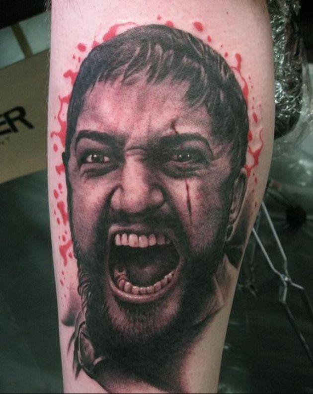 Screaming Man Portrait Tattoo