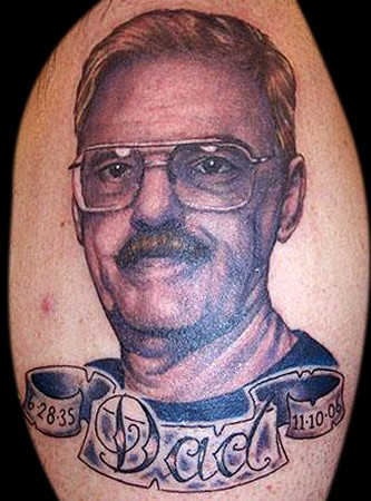 Senior People Portrait And Banner Tattoos