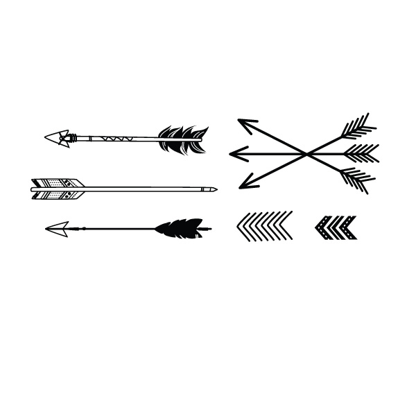Set Of Arrow Tattoo Designs