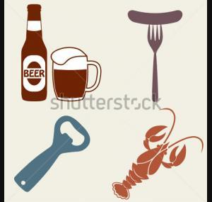 Set Of Beer Bottle Mug Opener Crawfish Tattoo Designs