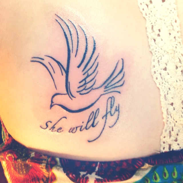 She Will Fly - Pigeon Tattoo