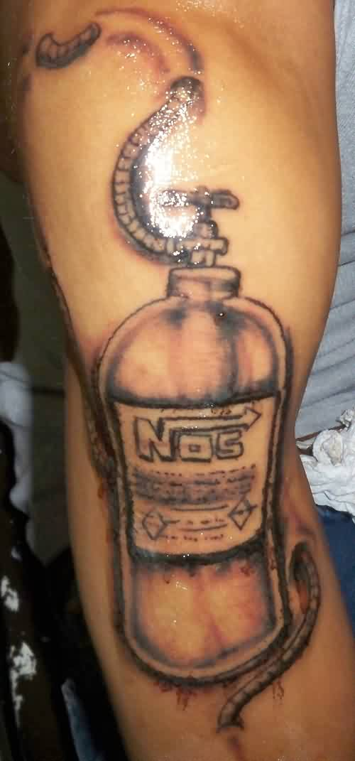 Shining Grey Nos Bottle Tattoo