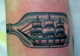 Ship In The Bottle Tattoo