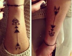 Side Wrist Arrow Tattoos