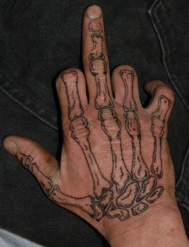 Skeleton Bones Tattoo On Hand (2)