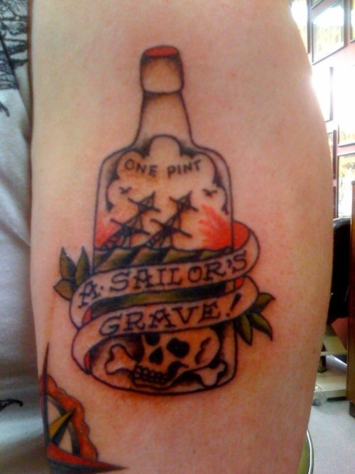 Skull Bottle Tattoo