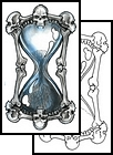 Skull Hour Glass Tattoo Design