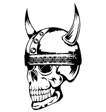Skull With Helmet Tattoo Design
