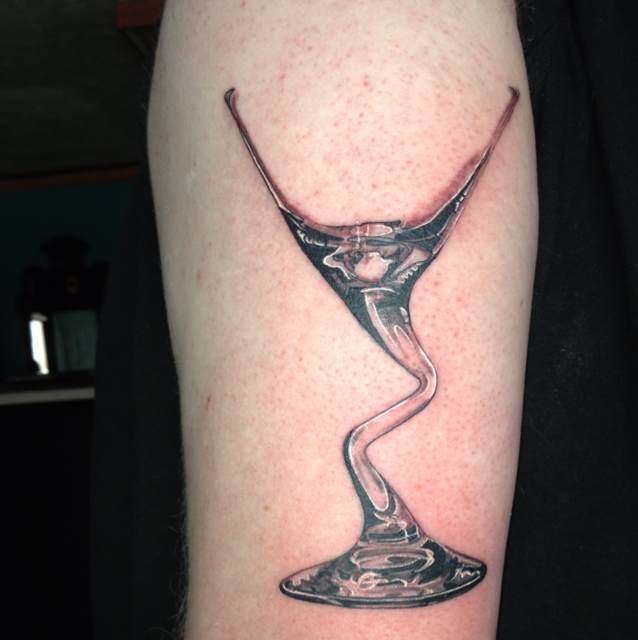 Slim Martini Glass Tattoo